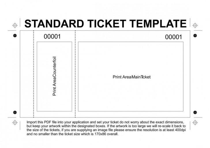 Create Tickets Free Printable