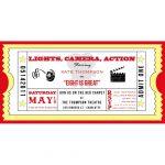 005 Template Movie Ticket Invitation Freeintable Photo Calendar May   Free Printable Ticket Invitation Templates