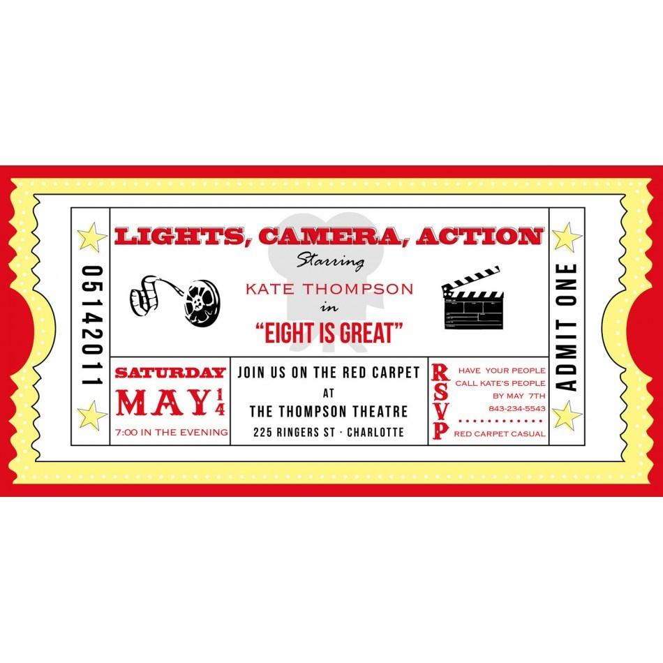 005 Template Movie Ticket Invitation Freeintable Photo Calendar May - Free Printable Ticket Invitation Templates