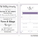 006 Per Page X Wedding Program Template Mountainmodernlife Com Ideas   Free Printable Wedding Program Templates