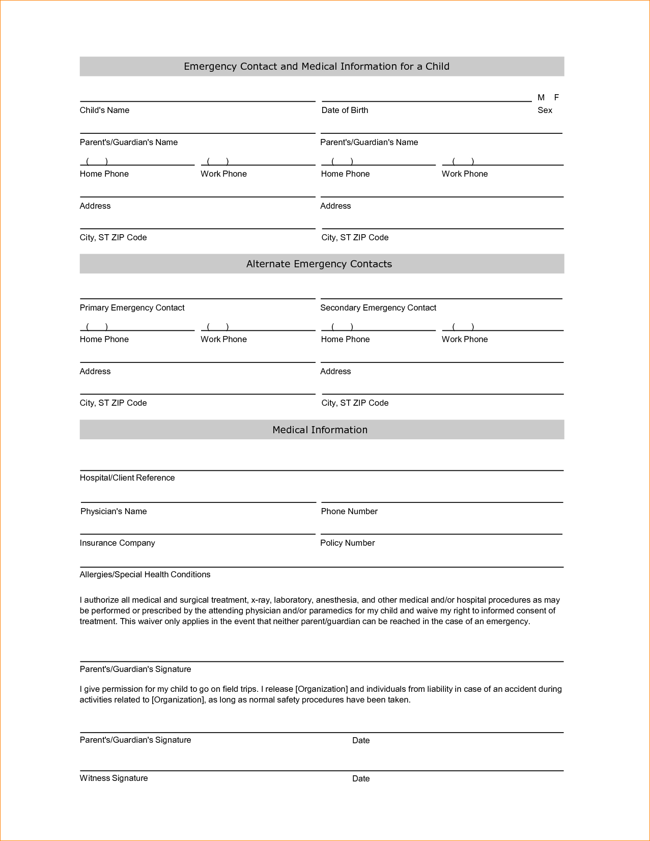008 Emergency Contact Form Template Ideas Wondrous Card Travel Free - Free Printable Emergency Medical Card