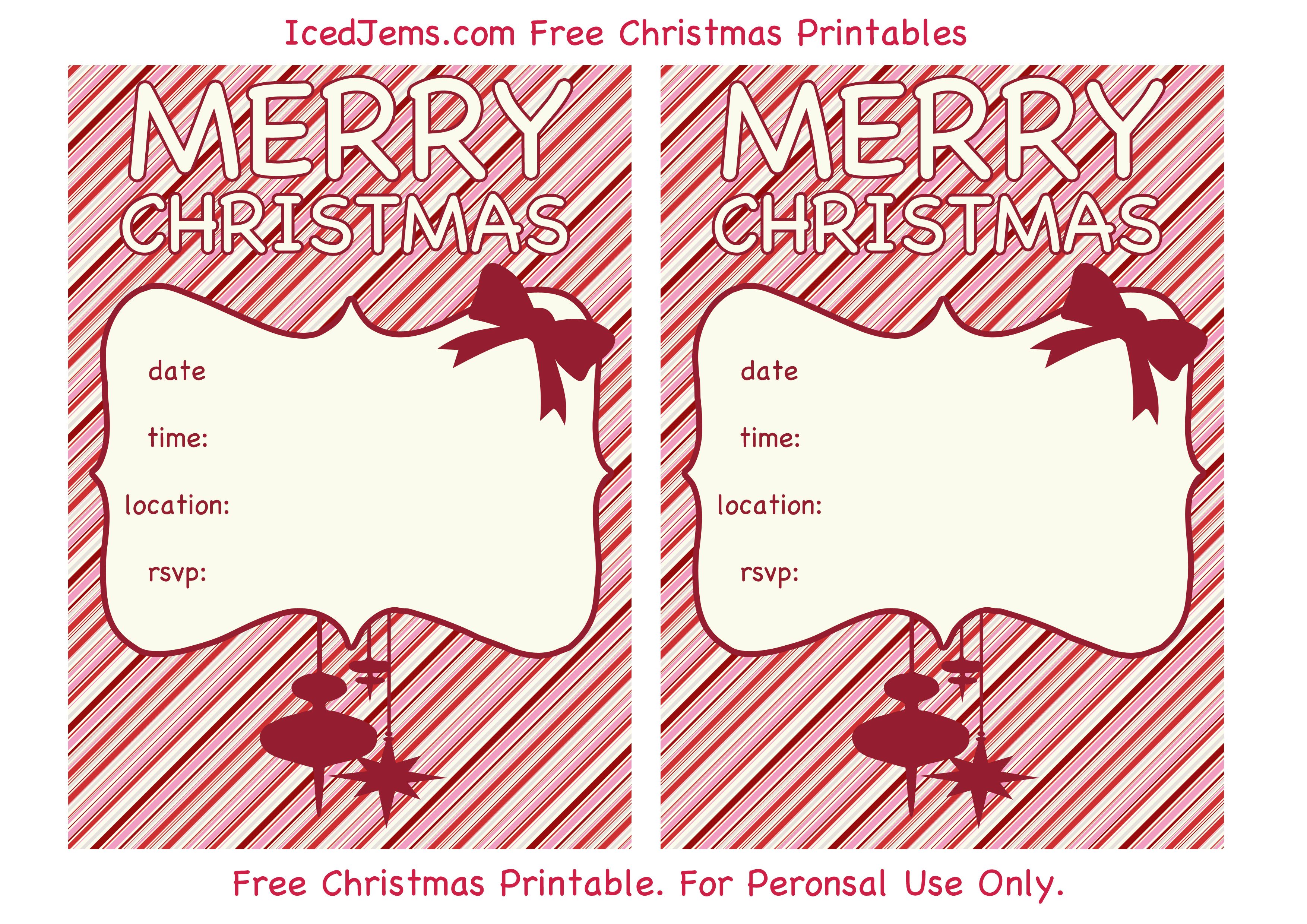 009 Christmas Party Invite Template Ideas Printable Invitations - Christmas Party Invitation Templates Free Printable