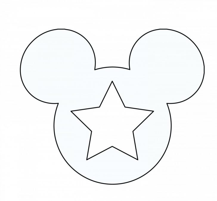 Free Printable Mickey Mouse Template