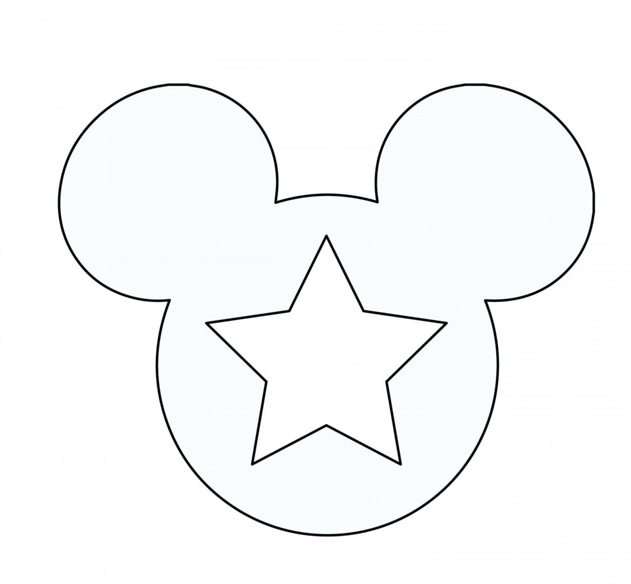 012 Mickey Mouse Template Ears Printable Coloring Pages Ghost Free - Free Printable Mickey Mouse Template