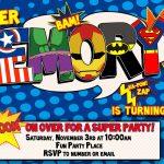 012 Template Ideas Free Superhero Invitation Awesome Birthday   Free Printable Superman Invitations