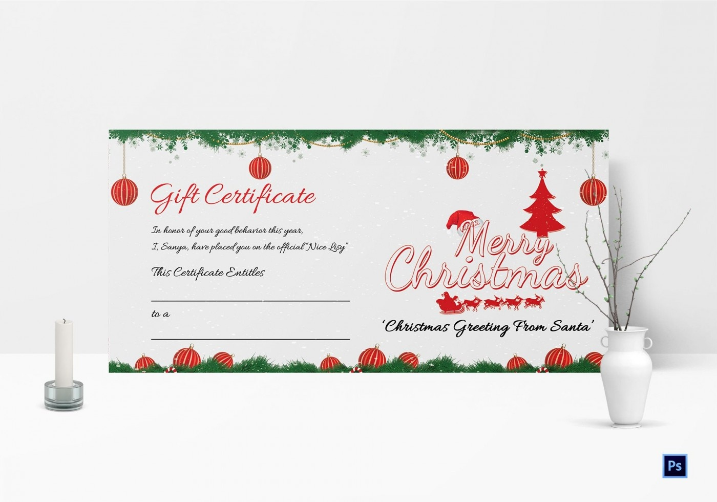 013 Template Ideas Printable Gifts Merry Christmas Awesome Gift - Free Printable Gift Certificate Christmas