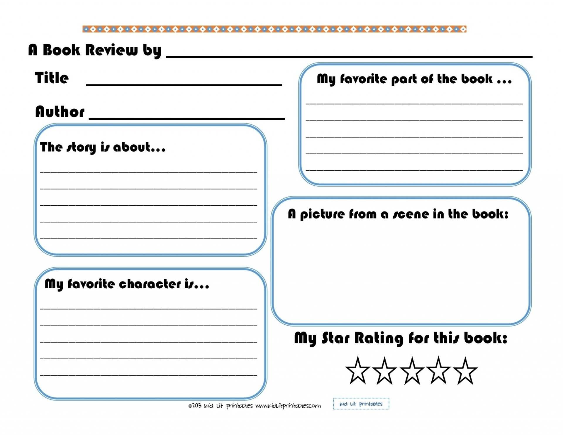 014 Free Book Report Templates Bookort Template For Kindergarten 5Th - Free Printable Books For 5Th Graders