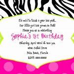 015 Free Printable 40Th Birthday Partyion Templates And Ideas Zebra   Zebra Invitations Printable Free