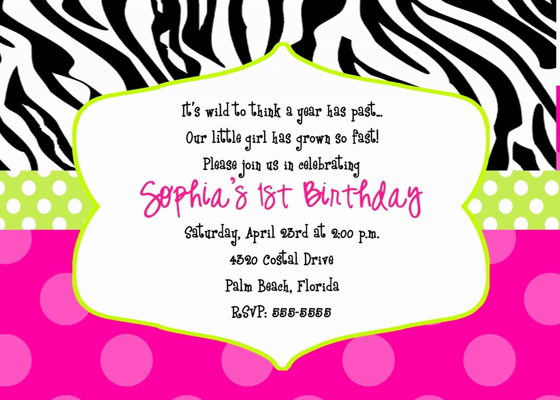 015 Free Printable 40Th Birthday Partyion Templates And Ideas Zebra - Zebra Invitations Printable Free