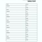 017 Free Printable Phone Directory Template Emergency Numbers List   Free Printable Numbered List