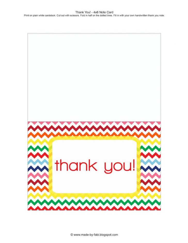 Free Printable Custom Thank You Cards