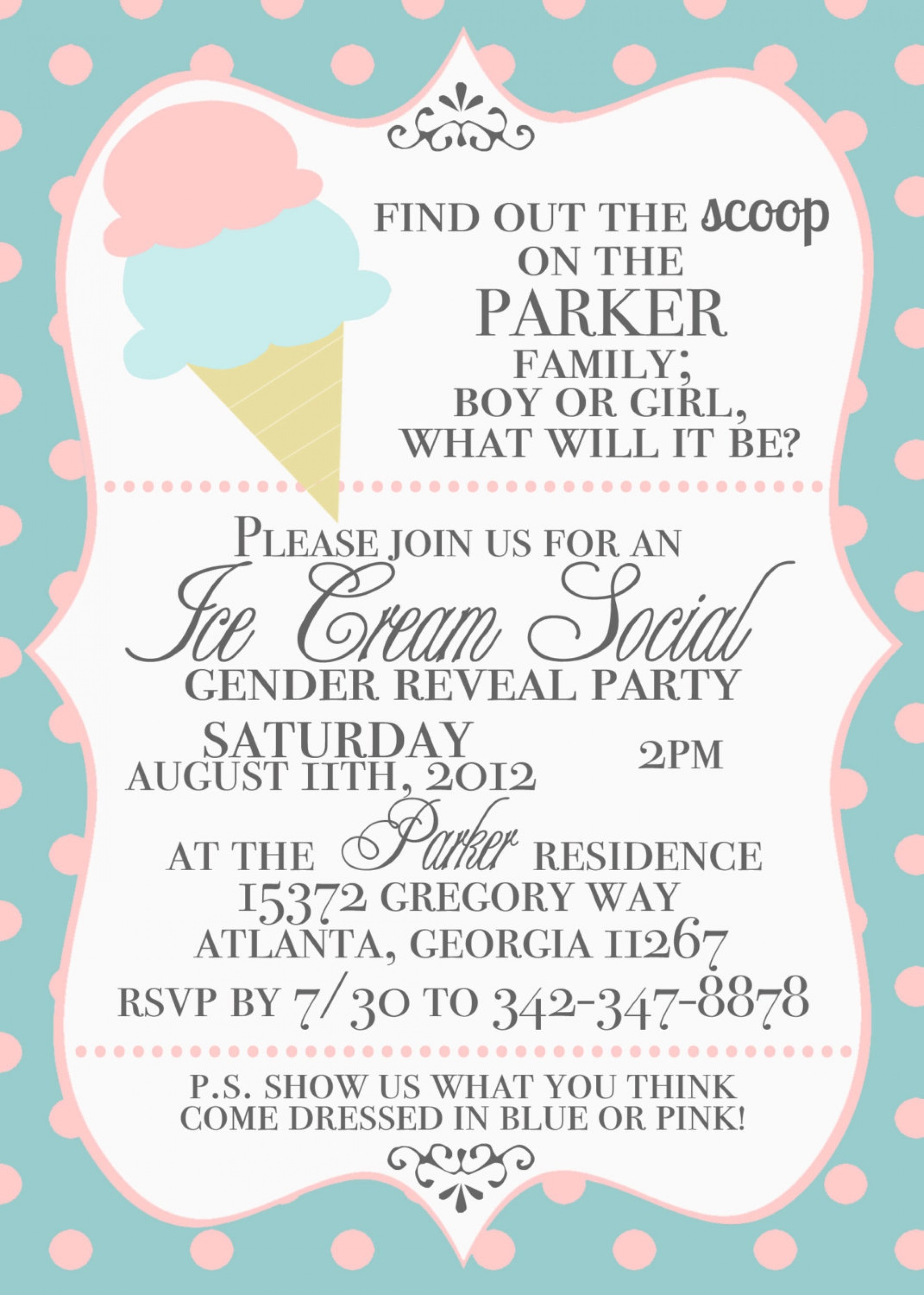 019 Template Ideas Gender Reveal Partyion Example Of Printableions - Free Printable Gender Reveal Templates