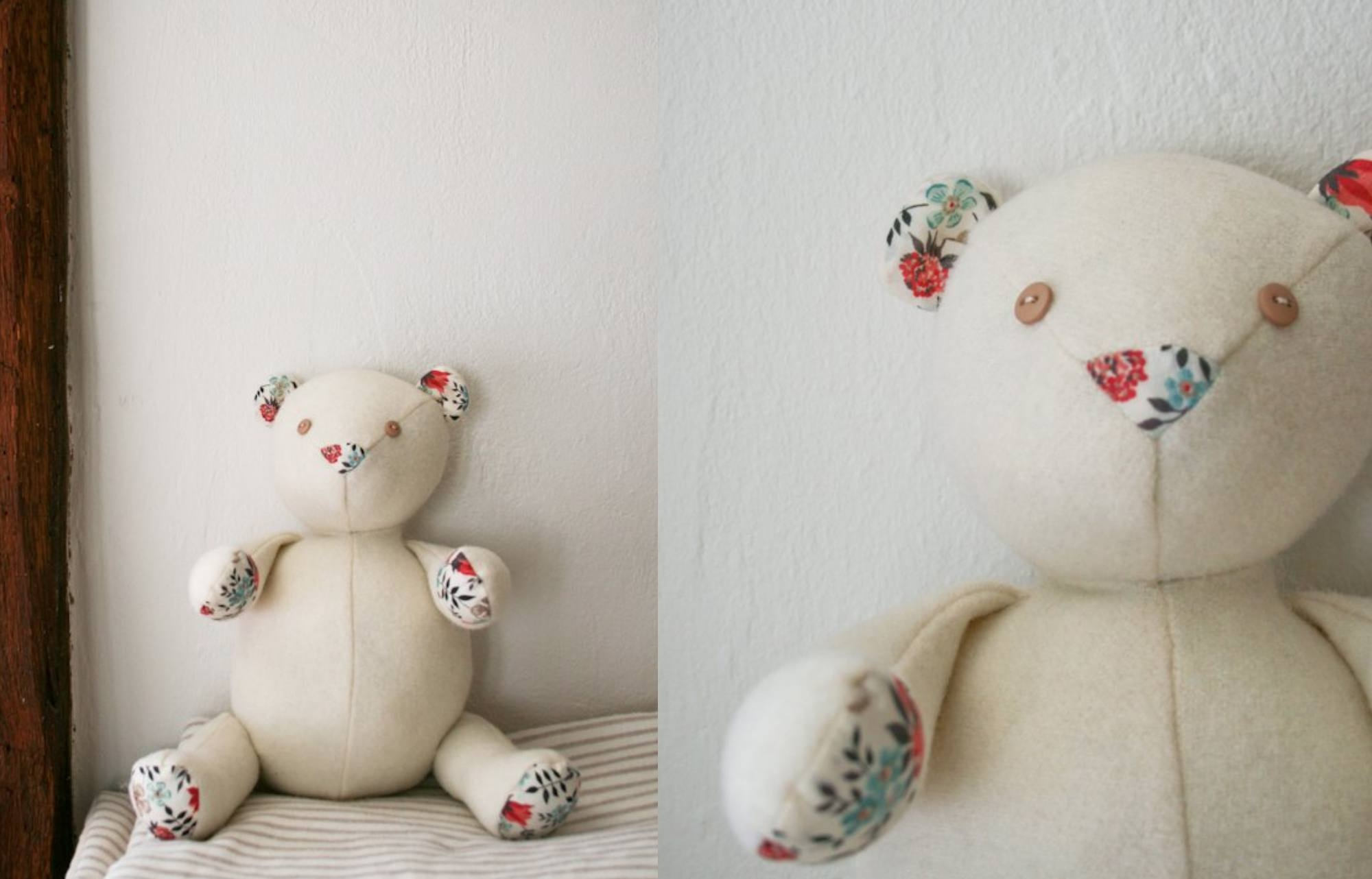 10 Adorable Teddy Bear Sewing Patterns - Free Printable Patchwork Teddy Bear Pattern