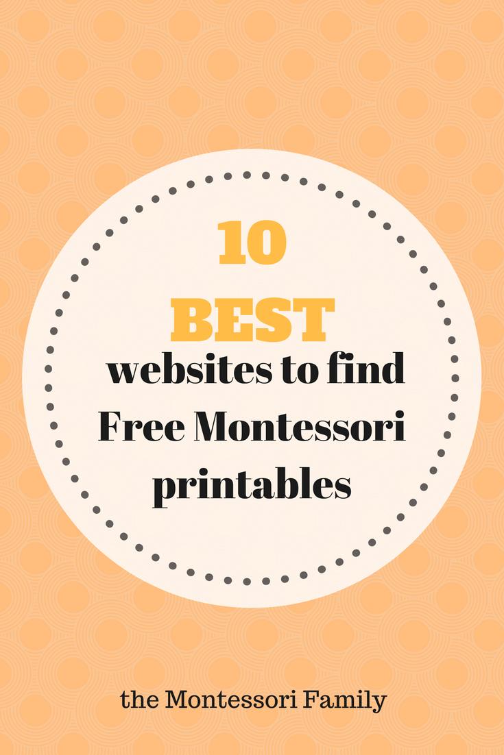 10 Best Websites To Find Montessori Free Printable Documents - Free Montessori Printables