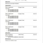 10 Blank Resume Template Pdf Professional List Free Printable 3   How To Make A Free Printable Resume