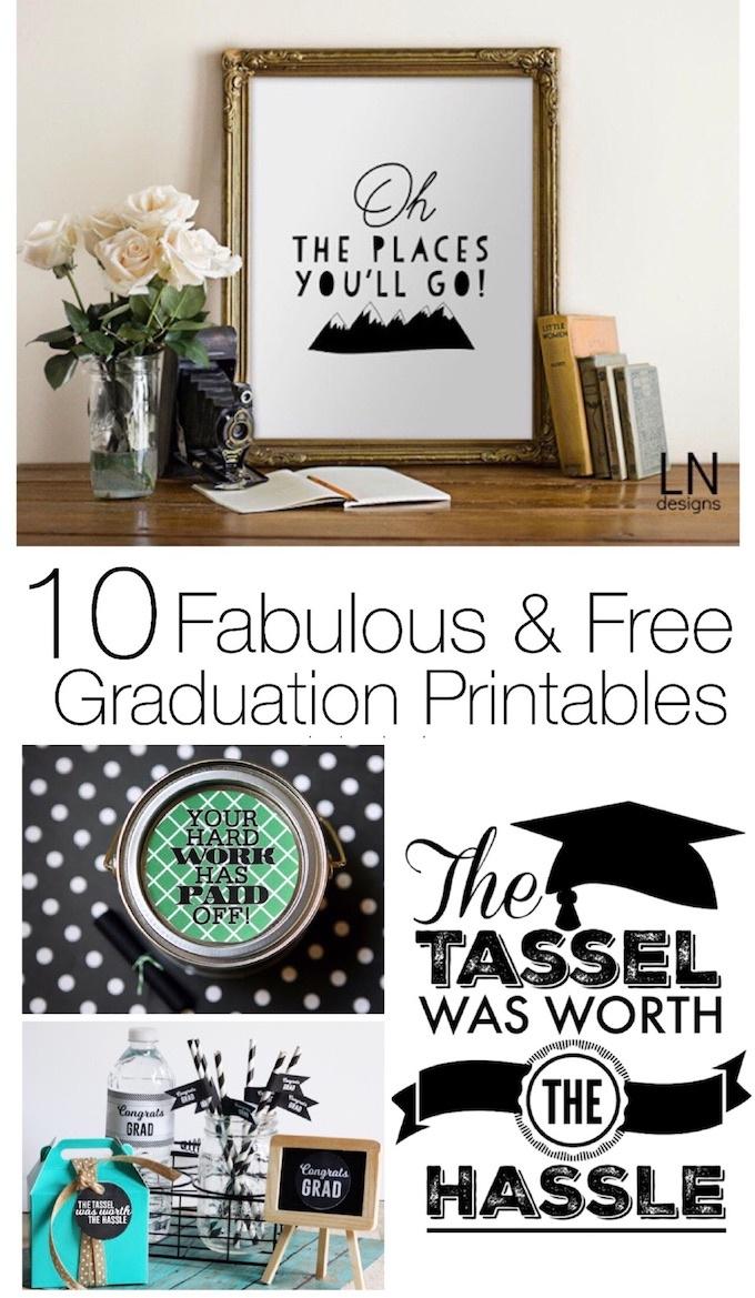10 Fabulous & Free Graduation Printables - Design Dazzle - Free Graduation Printables 2017