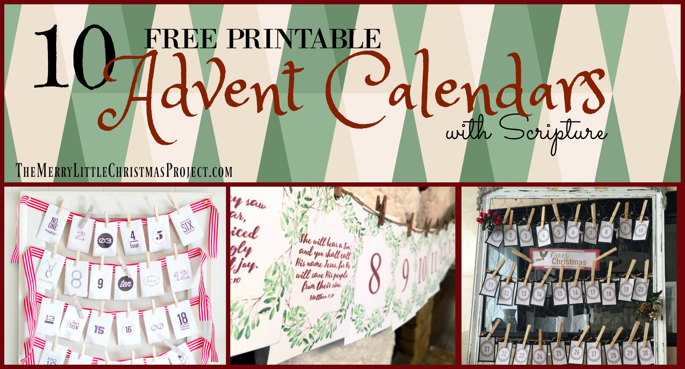 10 Free Advent Printables With Scripture - The Merry Little - Free Printable Advent Bible Study