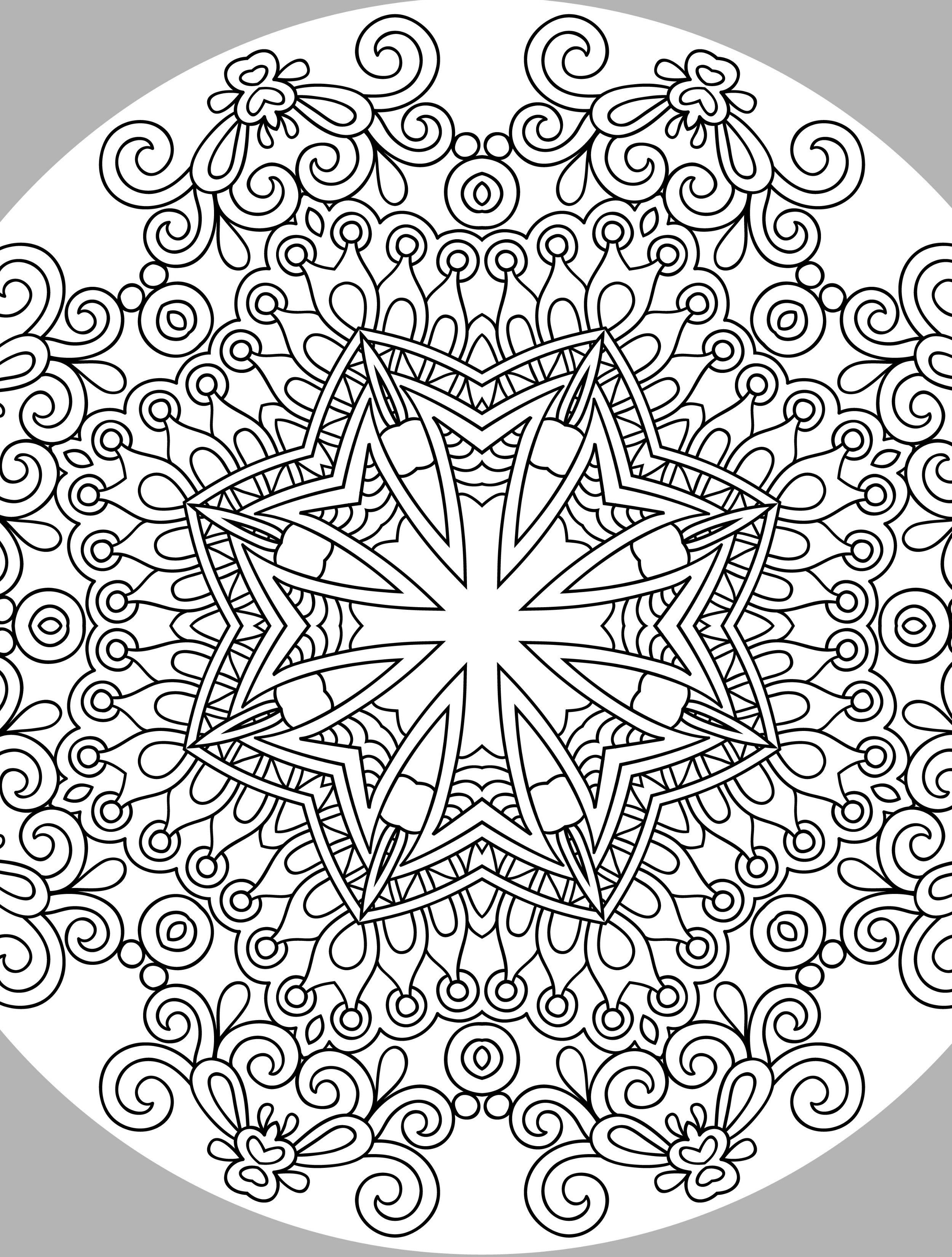 10 Free Printable Holiday Adult Coloring Pages | Coloring | Adult - Free Printable Holiday Coloring Pages