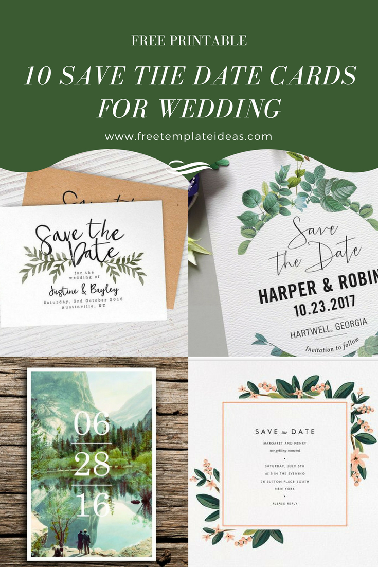 "10 Free Printable Save The Date Cards For Weddings | ""the Best Blogs - Free Printable Save The Date"