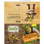 10 Free Shrek Party Printable: Invitation, Games, Party Hat, Etc.   Free Printable Shrek Invitations
