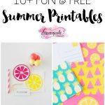 10+ Fun Free Summer Printables | Printable | Pinterest   Kaarten   Free Summer Printables