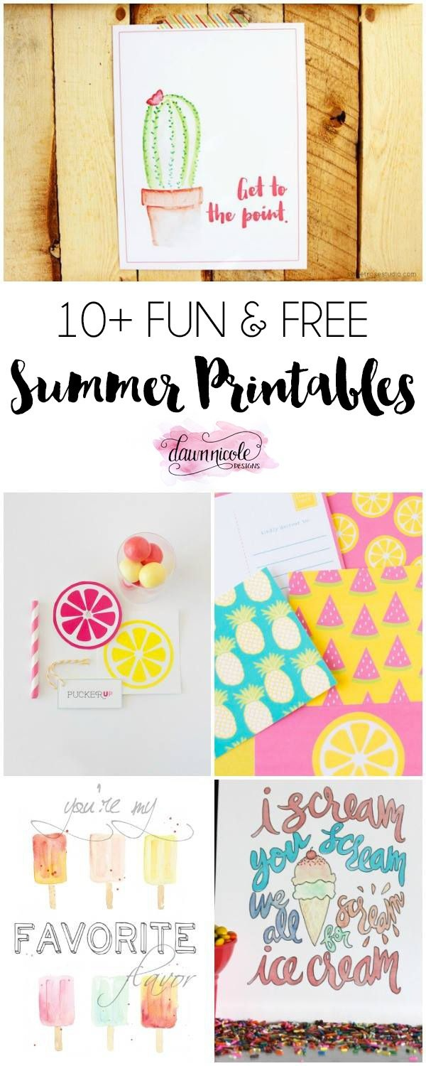10+ Fun Free Summer Printables | Printable | Pinterest - Kaarten - Free Summer Printables