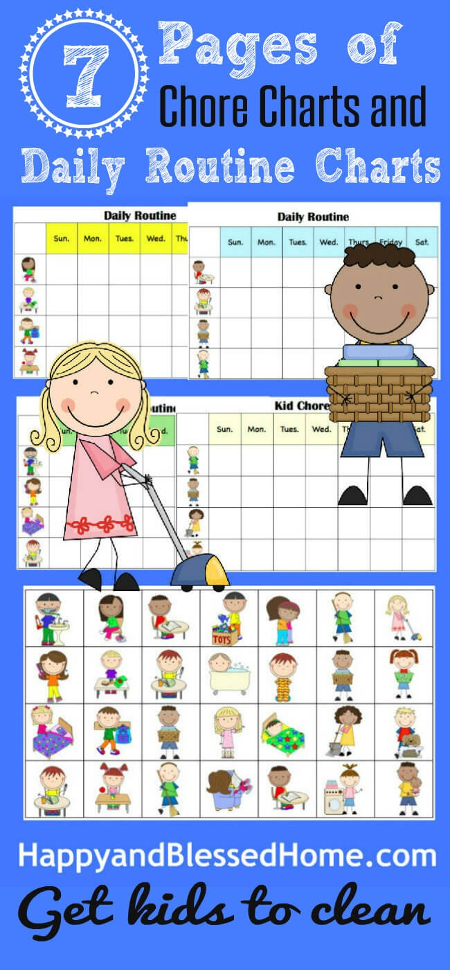 10 Minutes To Clean And Free Printable Chore Charts For Kids - Free Printable Chore Charts For 10 Year Olds