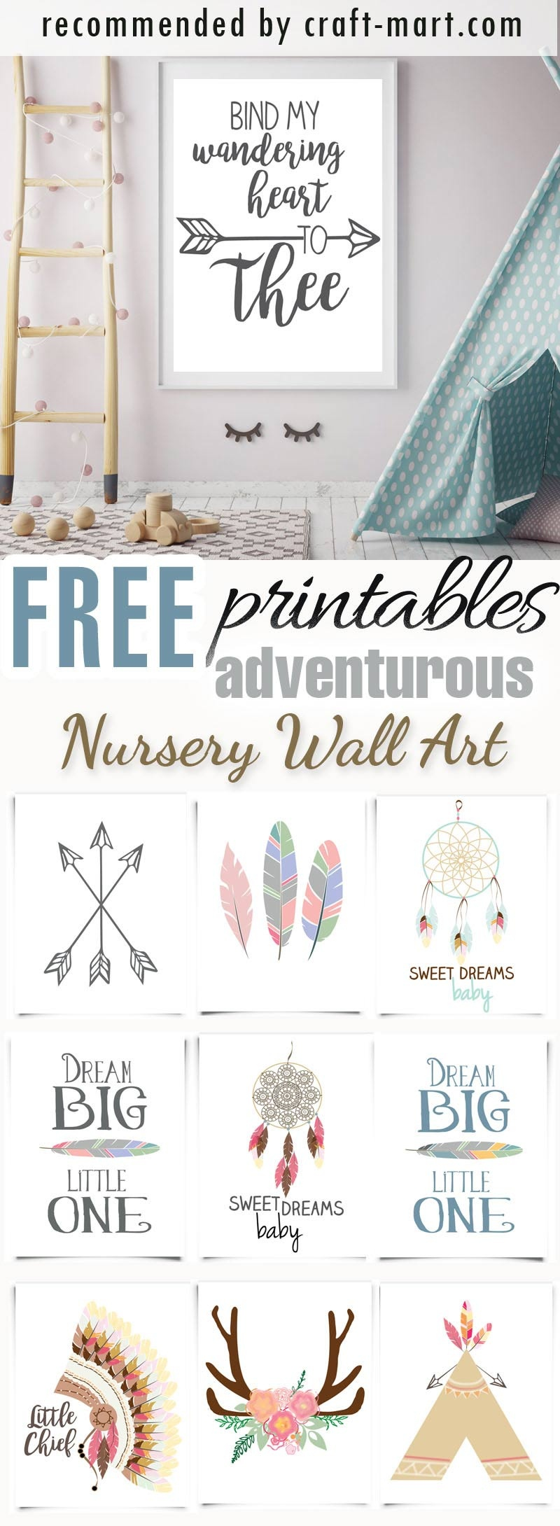 100+ Best Free Nursery Printables And Wall Art - Craft-Mart - Free Nursery Printables