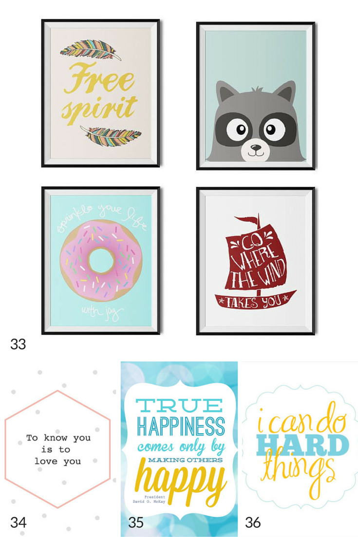 100 Free Nursery Printables That'll Look Good In Every Baby's Room - Free Nursery Printables