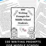 100 Writing Prompts For Middle School Students   That Bald Chick®   Free Printable Writing Prompts For Middle School
