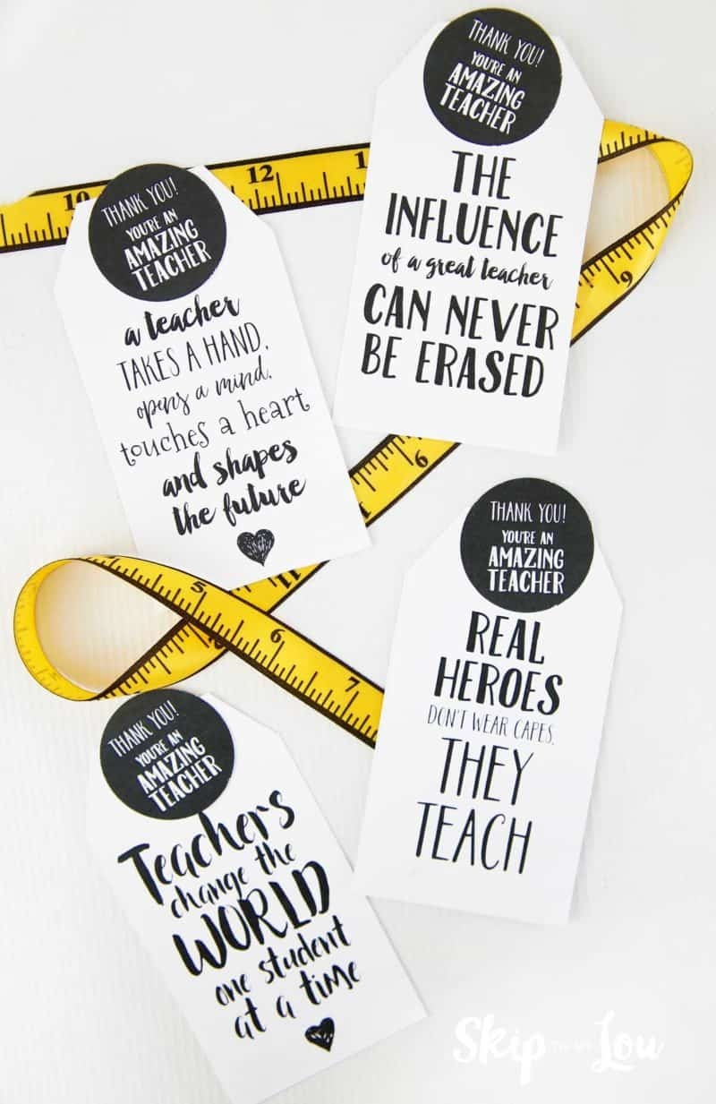 100's Of The Best Most Creative Teacher Appreciation Ideas - Take Note I Think You Are Awesome Free Printable