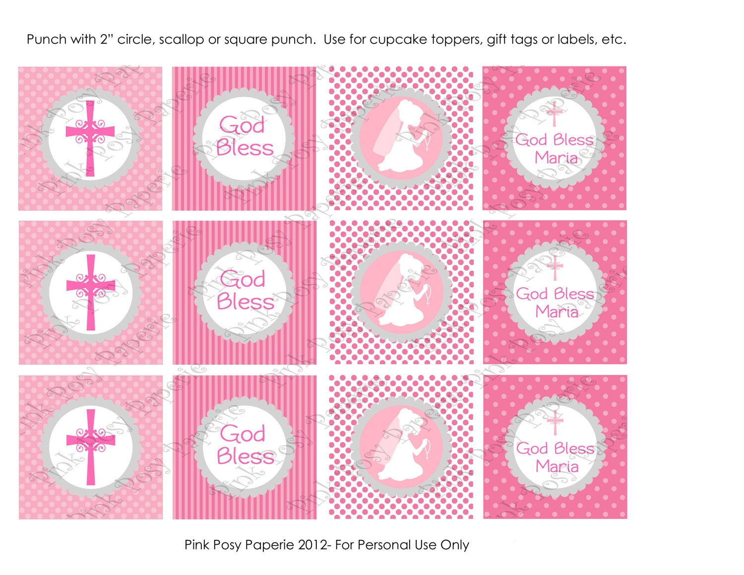 11 Best Photos Of First Communion Cupcake Toppers Print - First - First Communion Printables Free