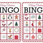 11 Free, Printable Christmas Bingo Games For The Family   20 Free Printable Christmas Bingo Cards