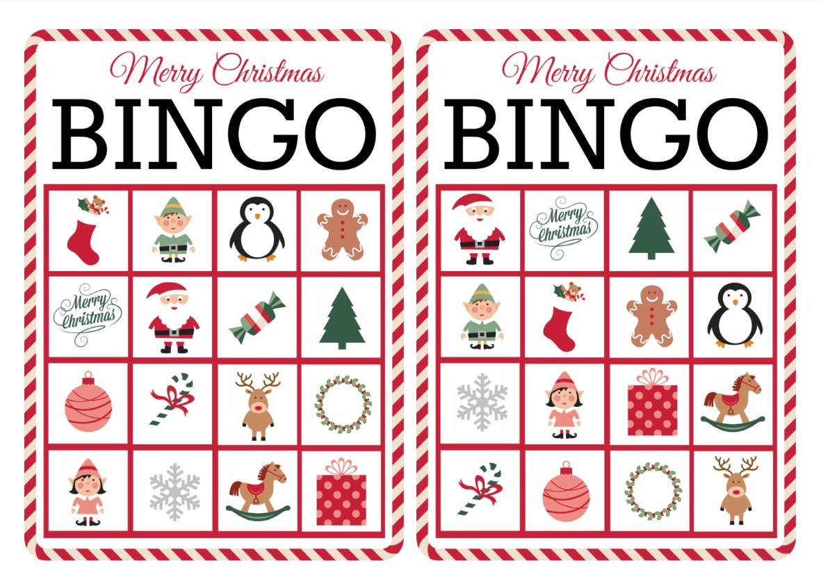 11 Free, Printable Christmas Bingo Games For The Family - Free Printable Bingo Cards And Call Sheet