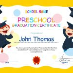 11+ Preschool Certificate Templates   Pdf | Free & Premium Templates   Preschool Graduation Diploma Free Printable