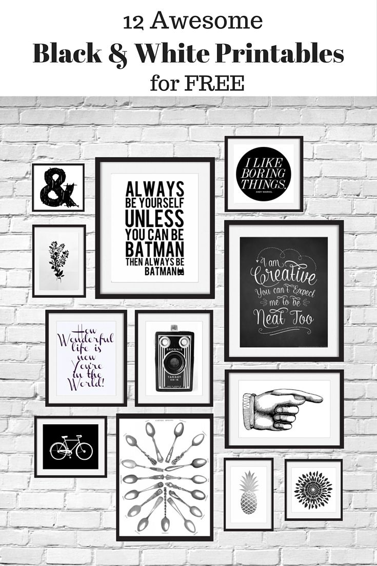 12 Free Black And White Printables Great For Using In Your Gallery - Free Black And White Printable Art