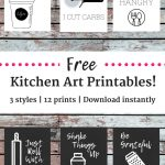 12 Free Kitchen Printables!   Snacking In Sneakers   Free Kitchen Printables