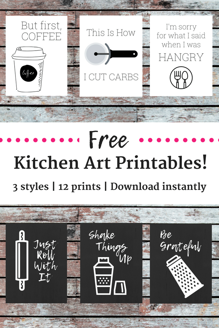 12 Free Kitchen Printables! - Snacking In Sneakers - Free Kitchen Printables
