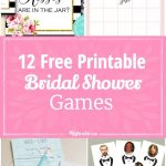 12 Free Printable Bridal Shower Games | Party Time | Free Bridal   Free Printable Bridal Shower Games And Activities