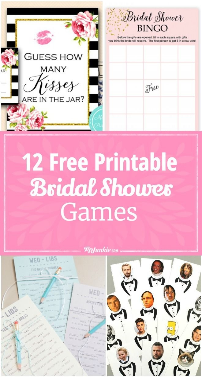 12 Free Printable Bridal Shower Games | Party Time | Free Bridal - Free Printable Wedding Shower Games