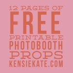 12 Pages Of Free Printable Photobooth Props | An Honorable Maid   Free Photo Booth Props Printable Pdf