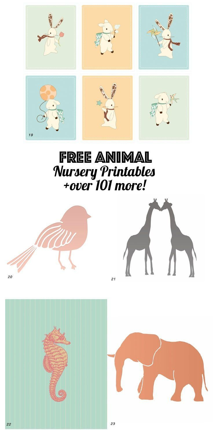 126 Free Nursery Printables: Ultimate Guide To Nursery Art - Free Nursery Printables