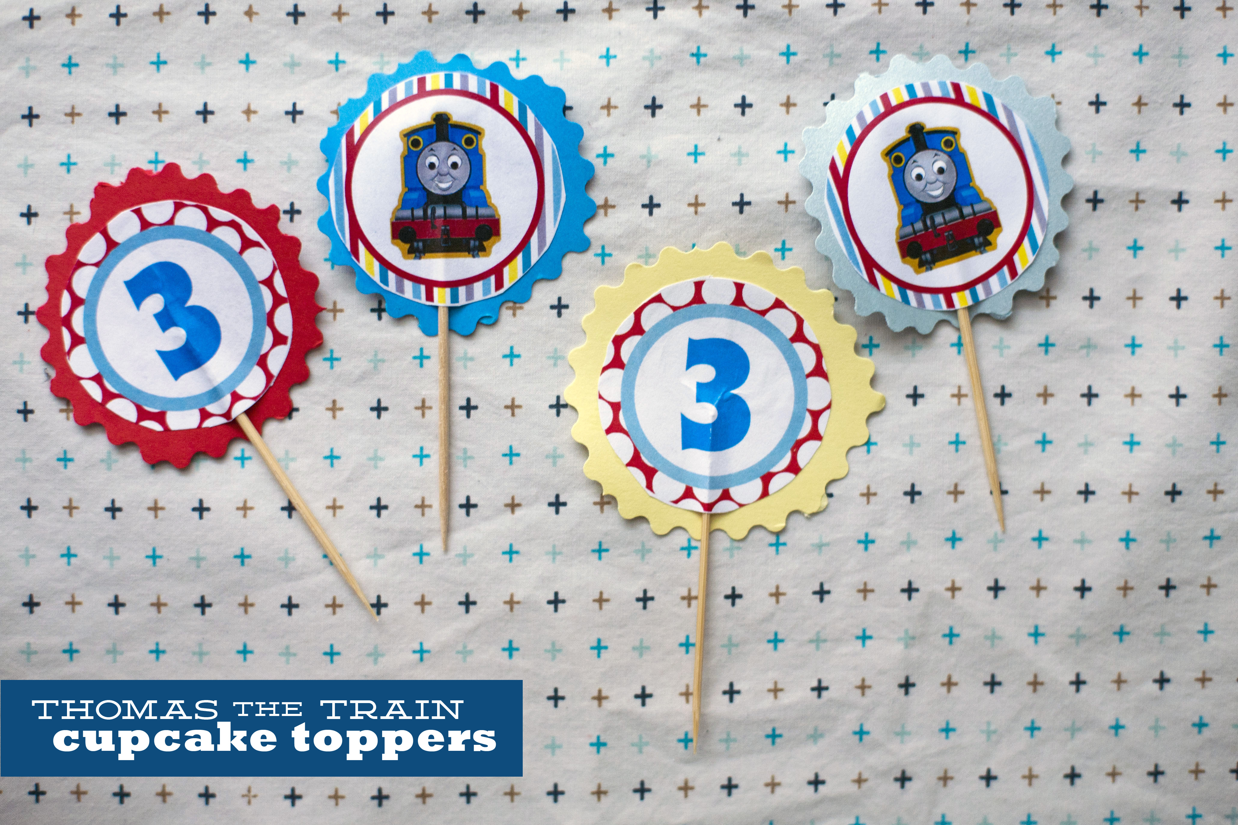 126. Thomas Cupcake Toppers. | Make Great - Free Printable Thomas The Train Cupcake Toppers