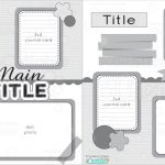12X12 Two Page Free Printable Scrapbook Layout   Free Printable Scrapbook Templates