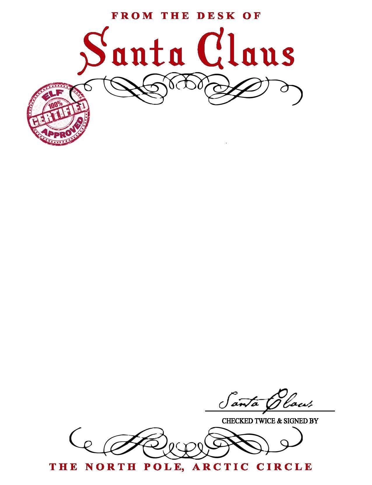 13 Best Images Of Free Printable Santa Letter Stationary - Santa - North Pole Stationary Printable Free