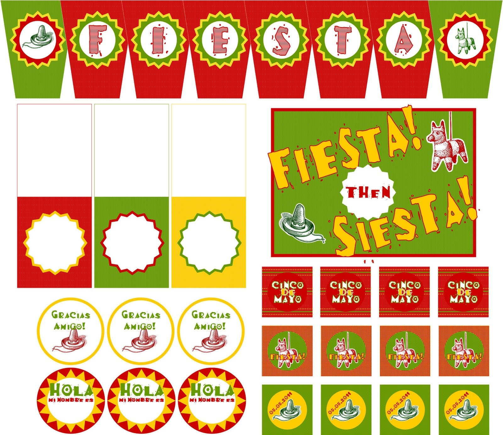13 Best Photos Of Fiesta Party Printables - Free Printable Cinco De - Free Printable Mexican Party Decorations