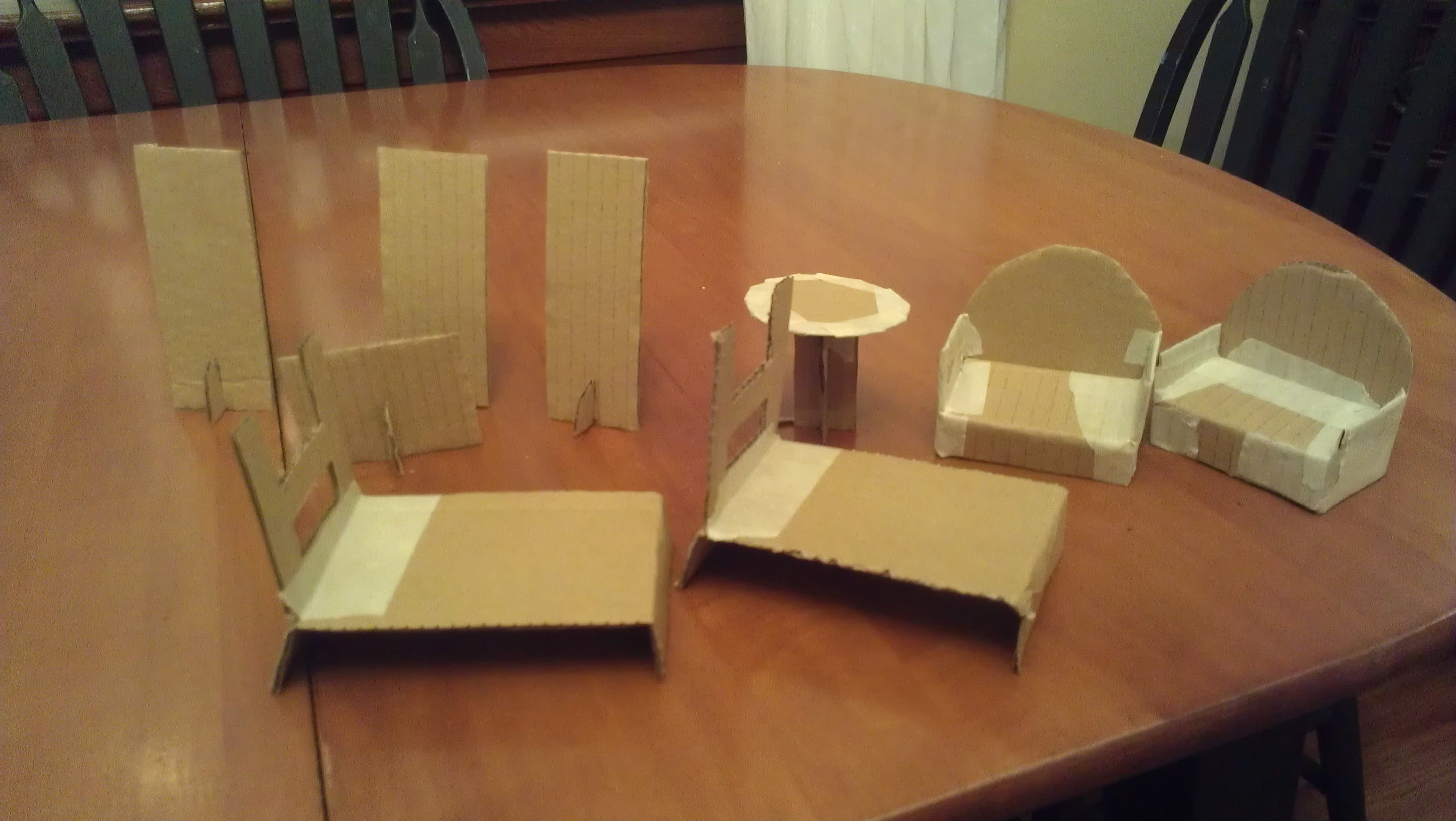13 Cardboard Dollhouse Plans | Guide Patterns - Free Printable Dollhouse Furniture Patterns