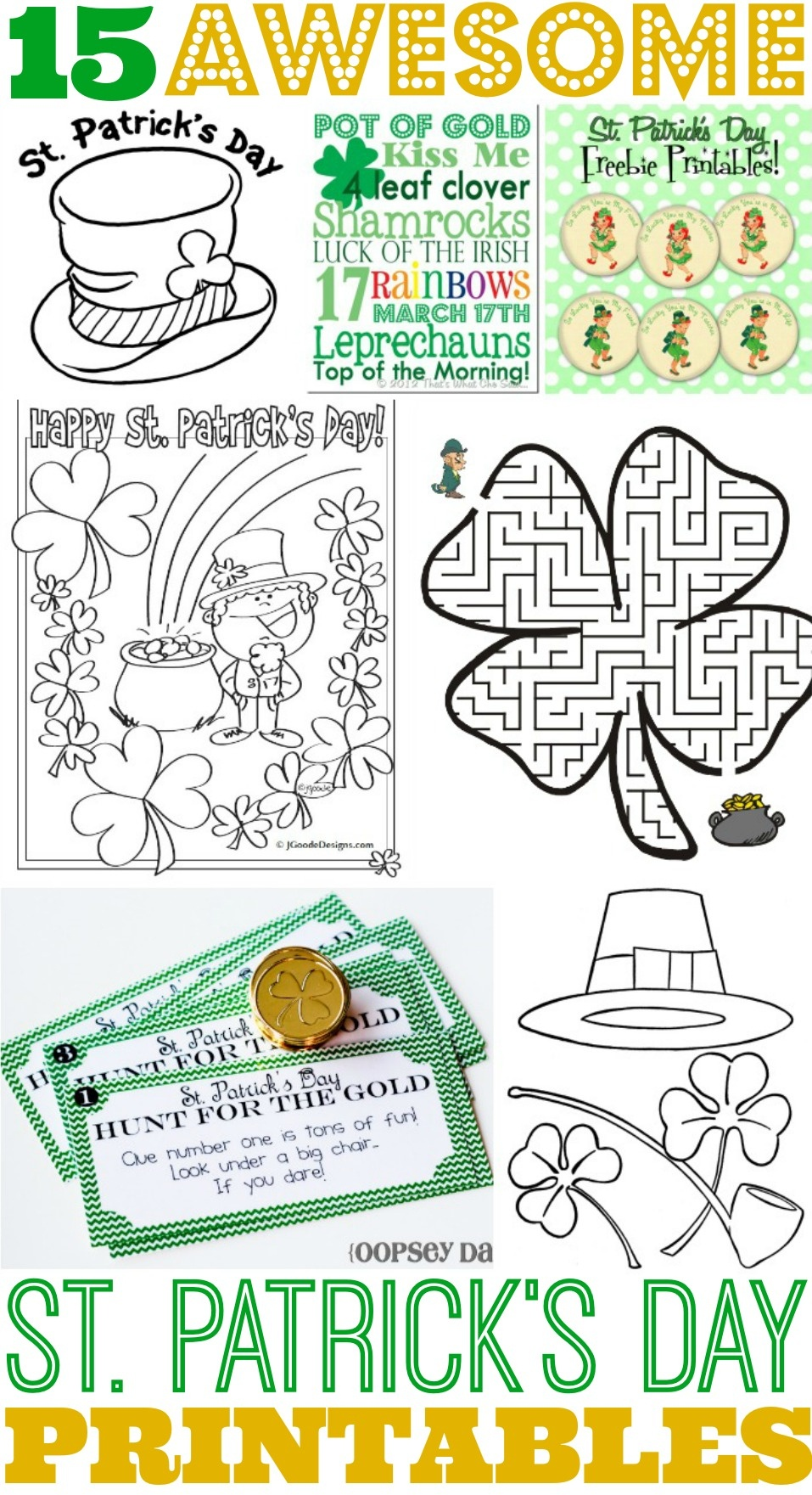 15 Awesome St. Patrick's Day Free Printables For Kids - Free St Patrick's Day Printables