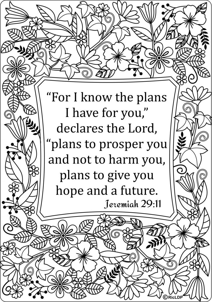Free Printable Bible Coloring Pages With Verses