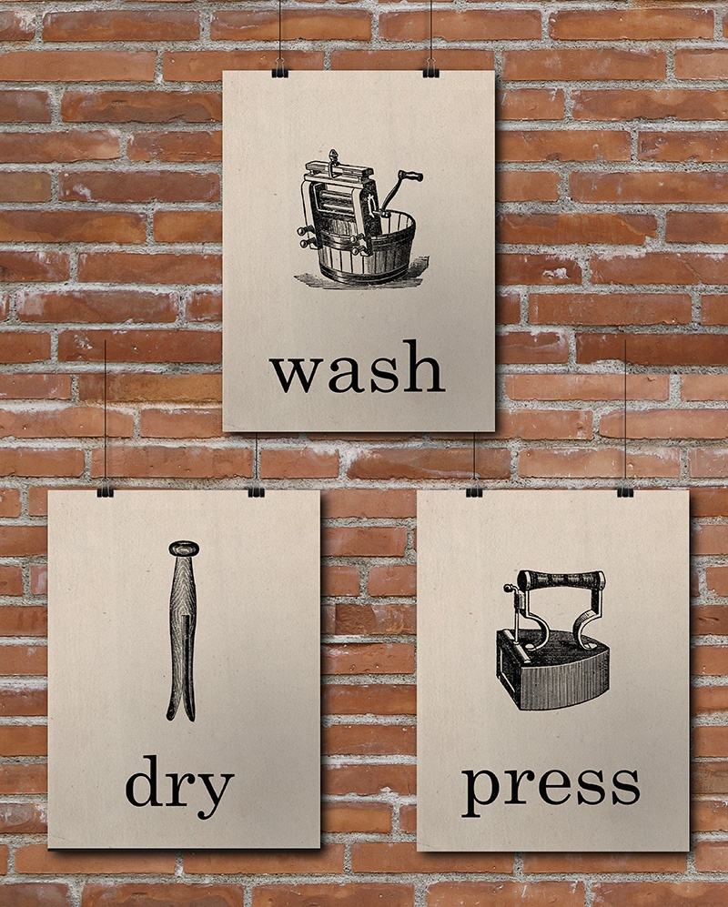 15 Laundry Room Free Printables • Little Gold Pixel - Free Printable Laundry Room Signs